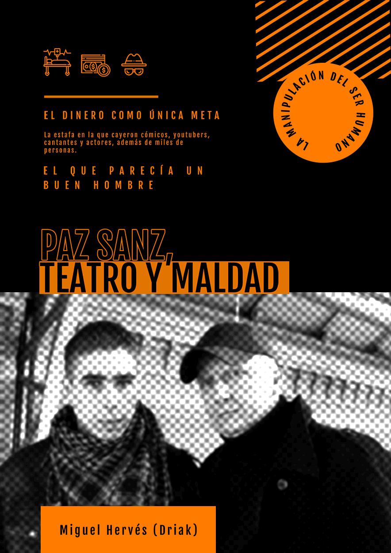 Paco Sanz, teatro y maldad - edición de la obra en papel